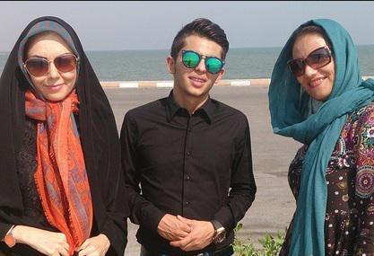 مجری زن مشهور و بازیگر مرد پرطرفدار ایرانی در کنار ساحل