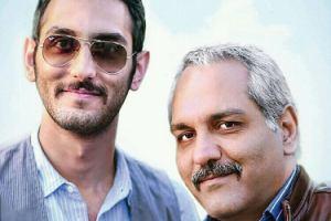 پسر مهران مدیری در پشت صحنه فیلم ساعت 5 عصر! عکس