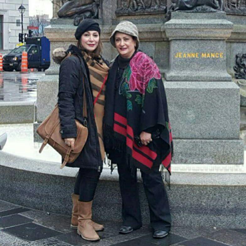 خوشگذرانی بازیگر زن محبوب ایرانی در کانادا+عکس
