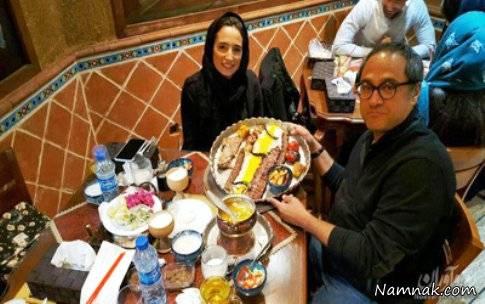 رامبد و همسر جدیدش بازهم شکار لنز عکاسان شدند+عکس