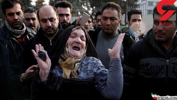 گریه های دردناک مادری که فرزندش زیر آوار های ساختمان پلاسکو گیر افتاده است + فیلم