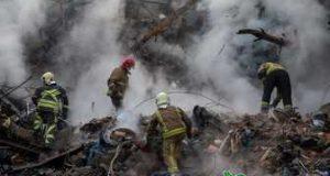 عکسی دردناک از آتش نشانان فاجعه پلاسکو