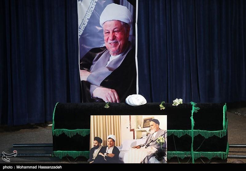 پیکر آیتالله هاشمی رفسنجانی در حرم امام راحل به خاک سپرده شد + عکس و فیلم
