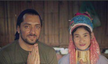 بهرام رادان» کنار زن تایلندی از یک قبیله عجیب | عکس