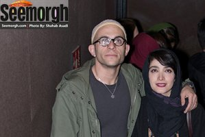 عکس های جدید مینا ساداتی و همسرش بابک حمیدیان در اکران فیلم لاک قرمز