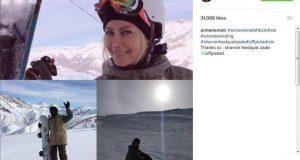 آنا نعمتی در تفریحات زمستانی !