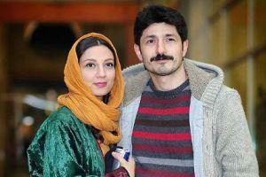 حدیث میرامینی به همراه همسرش در جشنواره فیلم فجر! عکس