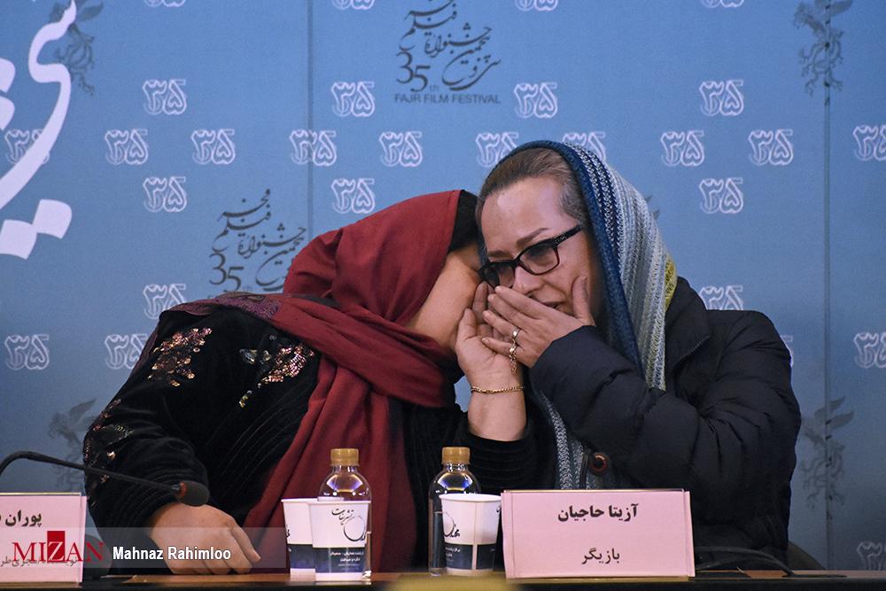 """درگوشی """"آزیتا حاجیان"""" با پوران درخشنده + عکس"""