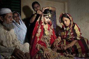 ازدواج با دختران نابالغ در کشور بنگلادش (+عکس)