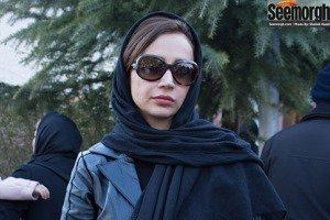 مراسم ختم پدر نیوشا ضیغمی: شبنم قلی خانی, الهام حمیدی و مریم معصومی