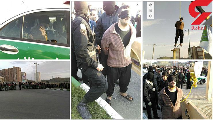 گزارش تصویری از اعدام قاتل اراک با طناب زرد در ملاعام / ساعت 7 صبح اجرا شد