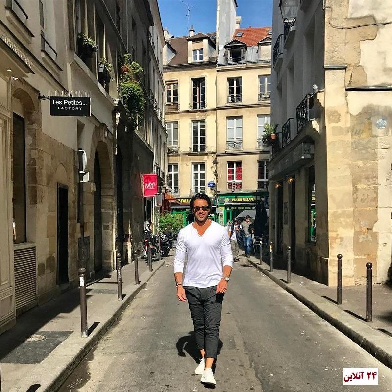 عکس: تیپ فوتبالیست ایرانی در خیابانهای پاریس