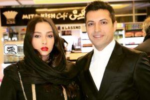 عکس اشکان خطیبی در کنار نقاشی همسرش آناهیتا درگاهی