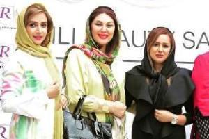 تیپ و چهره بازیگران زن در افتتاحیه یک سالن زیبایی