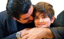 سالار عقیلی بغل همسر و فرزندش | عکس
