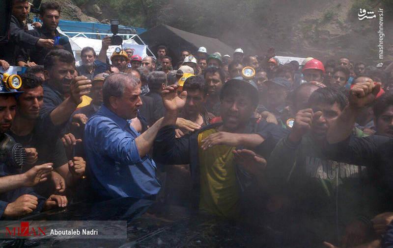 فیلم حمله معدنچیان گلستان به حسن روحانی
