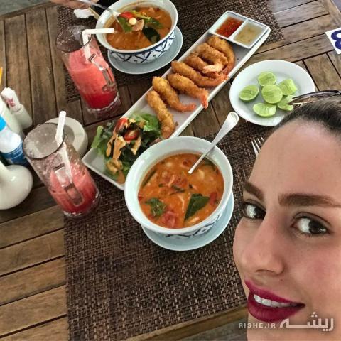 سمانه پاکدل سلفی خانم بازیگر ایرانی که آتش به جان خیلی ها زد + عکس