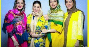 سوپر استار های بی حجاب ایرانی با مانتوهای جیغ + عکس