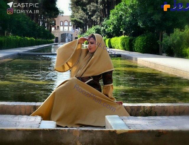 لباس عجیب و غریب خانم بازیگر لب آب+ عکس