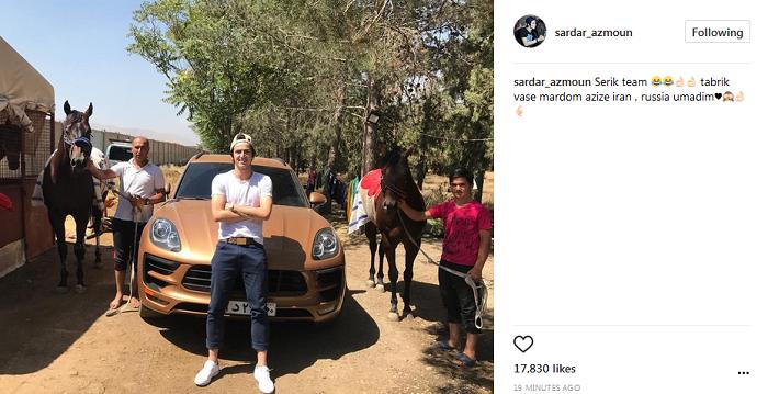 عکس|سردار آزمون،اسب ها و ماشین لاکچری اش!