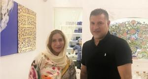 «علی دایی» در رستوران خانم بازیگر (عكس)