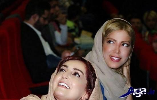 عکس دو نفره شقایق دهقان و خواهرش