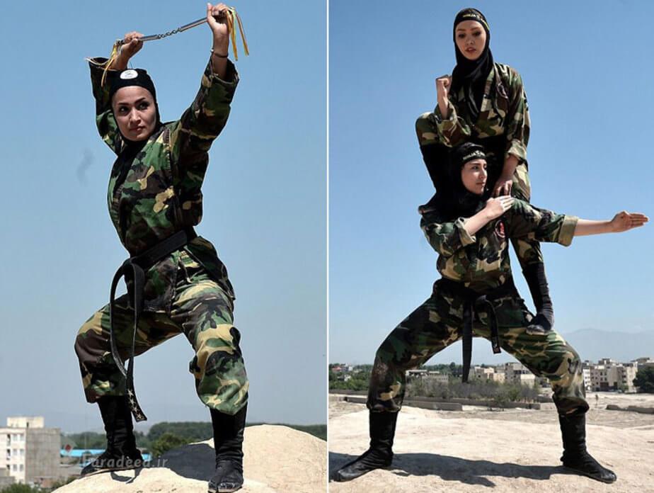 عکس های نینجا های زن ایرانی سوژه رسانه های خارجی