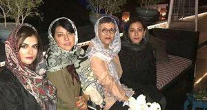 خانم بازیگر و دخترانش در کنار همسر شهاب حسینی+ عکس