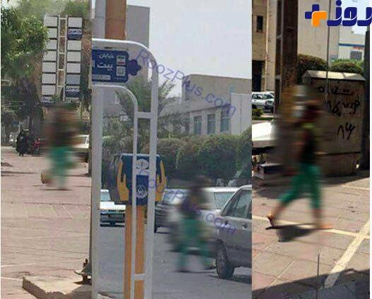 زن بی حجاب خیابان های شهر را به هم ریخت+ عکس