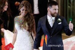 عکس لو رفته عروسی لیونل مسی: زیباترین عکس از مراسم عروسی مسی