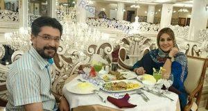 مجری مشهور و همسرش در رستورانی فوق العاده شیک+عکس