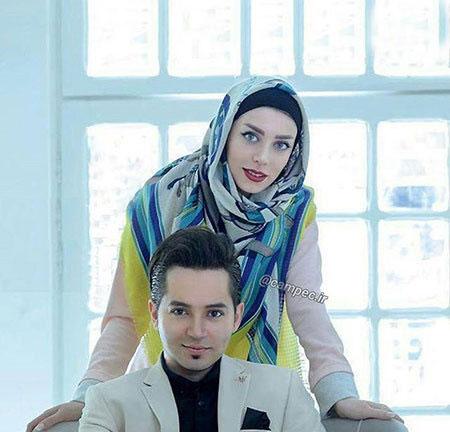 شهنام شهابی در کنار همسر کم سن و سالش