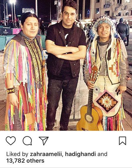 عکس لورفته حمید عسکری در بغل دو مکزیکی