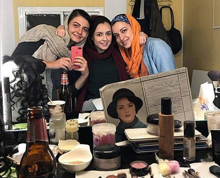 سلفی ترانه علیدوستی در پشت صحنه فصل سوم شهرزاد