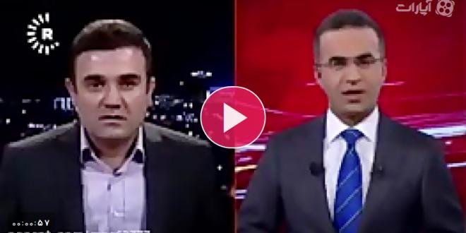 لحظه وقوع زلزله در برنامه زنده کردستان