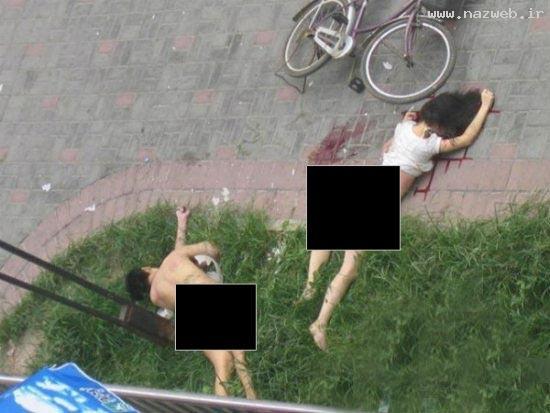 سقوط زوج عریان از پنجره هنگام عشق بازی عکس