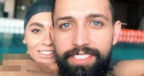 عکس برهنه محسن افشانی و همسرش در استخر  محسن افشانی و سویل