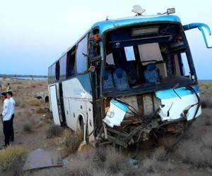 تصادف خونین اتوبوس زائران اربعین در آزادراه پل زال + اسامی
