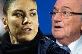 تجاوز رئیس فیفا به زن دروازه بان