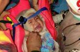 نوزاد تنها نجات یافته هواپیمای مرگ