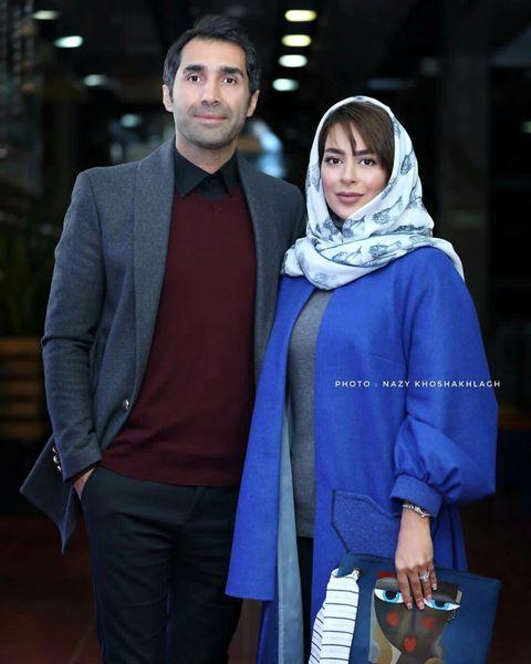 هادی کاظمی و سمانه پاکدل در اکران فیلم قانون مورفی