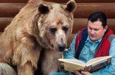 تصاویری جالب از دوستی خرس وحشی با انسان