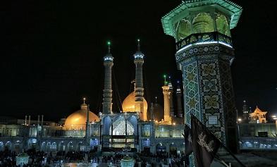 موکبهای عراقی در اطراف حرم مطهر حضرت معصومه