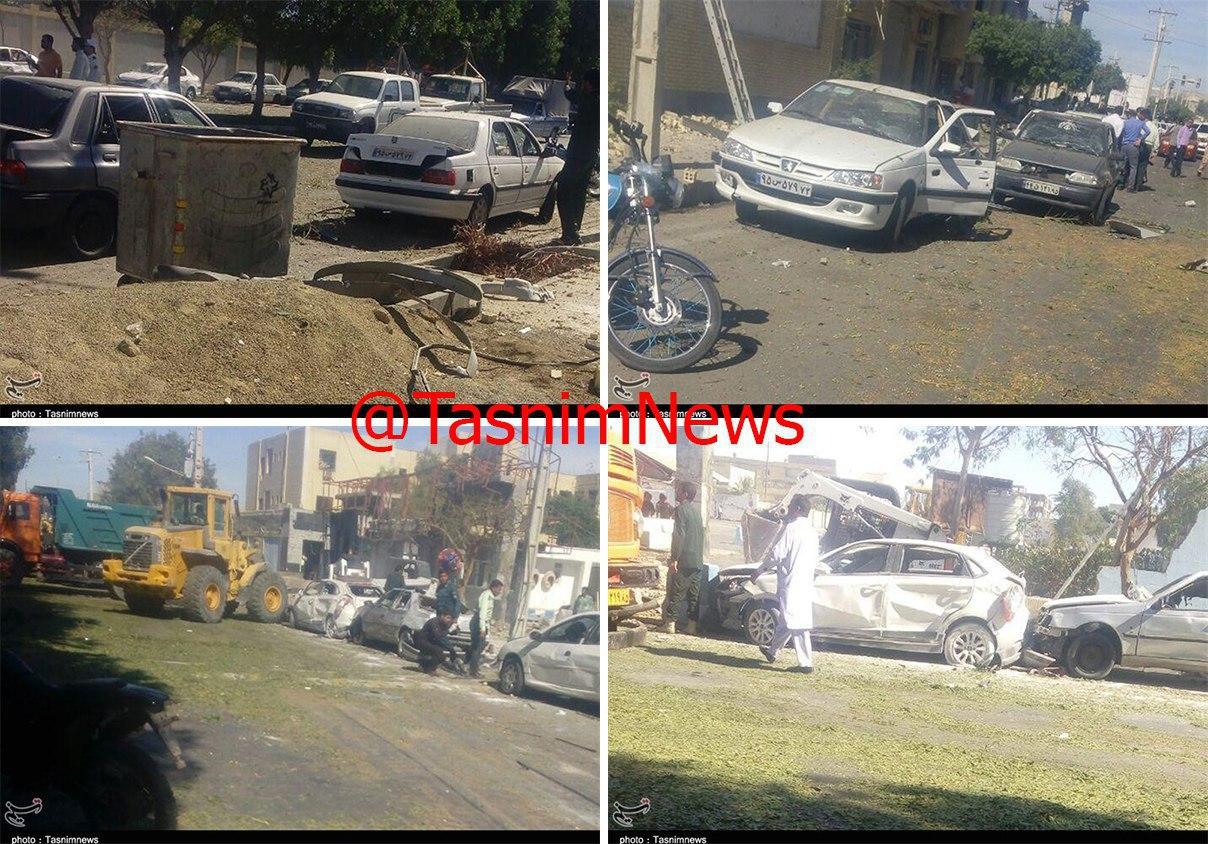تصاویر حمله تروریستی چابهار