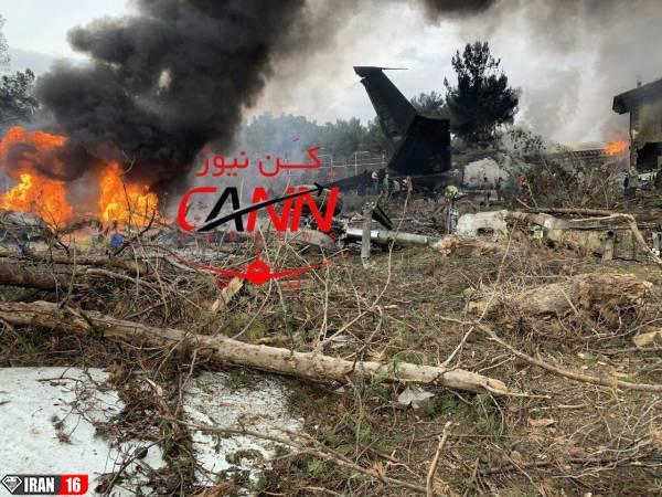 سقوط هواپیمای بوئینگ 707 در کرج + عکس