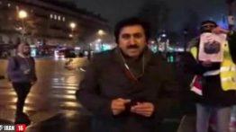 عکس سردار سلیمانی در دست معترضان فرانسوی +عکس