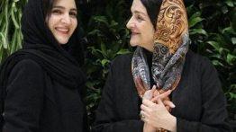عکس-گلاب-آدینه-و-دخترش-در-جشنواره-فیلم-فجر