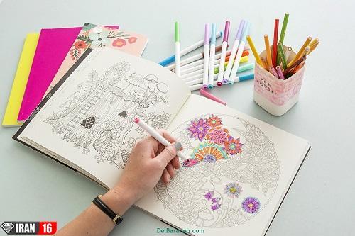 دانلود ۱۵۰ تصویر رنگ آمیزی برای بزرگسالان+تصاویر mandala
