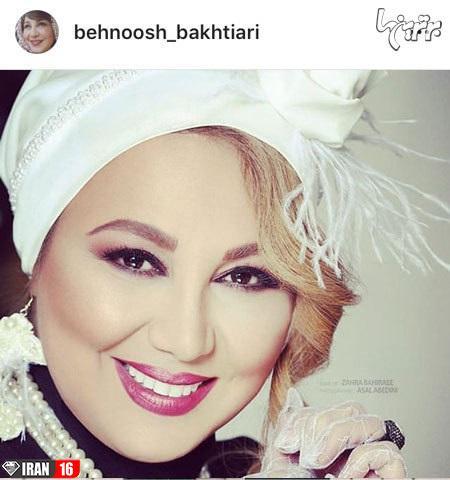 عکس بی حجاب و بدحجاب بهنوش بختیاری در عید 98