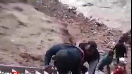فیلم دیده نشده از لحظه طغیان «خرمرود» و وحشت در خرم آباد + فیلم